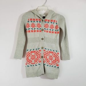 Girls Tea Collection Hooded Cardigan Sweater